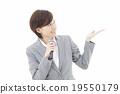 女性 話筒 麥克風 19550179