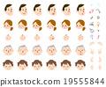 面部表情_家庭_用手和標誌部分 19555844