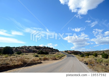 Scenery remaining along route 66 (mountains) 19557592