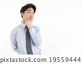 煩惱 生意人 男性白領 19559444