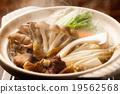 mushroom hotpot, pot, mushroom 19562568