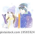 滑雪 夫婦 一對 19565924