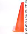 orange cone used warning sign under construction 19569436