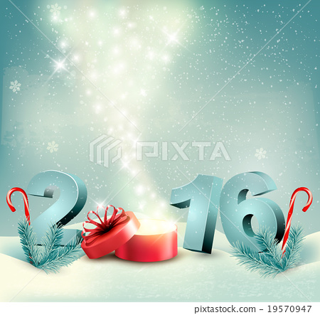 Stock Illustration: Happy new year 2016! New year design template