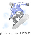 滑雪板 運動 跳 19572693