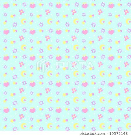 팬시에서 꿈 귀여운 원활한 (연속) 무늬 패턴 소재 블루 계열 벽지 · 배경 자료 19573148