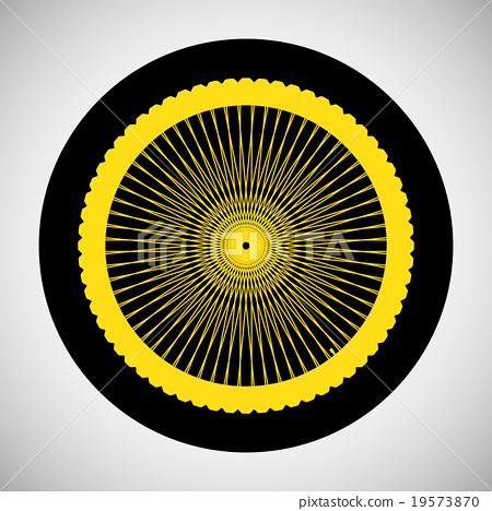 Bicycle Wheel Icon 19573870