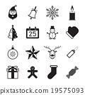 Christmas icon set vector illustration 19575093