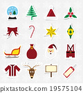 Christmas sticker icon set vector illustration 19575104