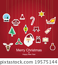 Christmas sticker icon vector illustration 19575144