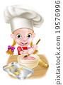 Cartoon Girl Baking 19576996