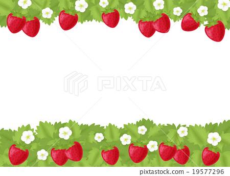 strawberries, strawberry, frame - Stock Illustration [19577296] - PIXTA