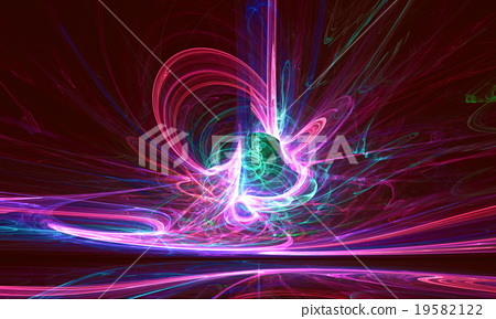 Mysterious alien form colorfull magnetic fields in 19582122
