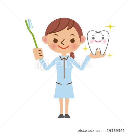 image Japanese dentist nurse care the patient