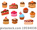 Cakes, cupcakes, pies, pudding and desserts 19594036