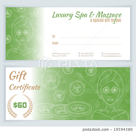 Spa Massage Gift Certificate Template Stock Images Page Everypixel