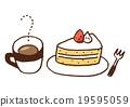 케이크, 케익, 커피 19595059