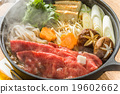 Sukiyaki sukiyaki with high-quality Japanese food 19602662