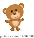 vector Teddy bear isolated on white background.  19602888