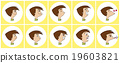 Cartoon of various face expressions 19603821