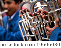 Trombones playing in a big band. 19606080