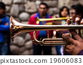 Trombones playing in a big band. 19606083