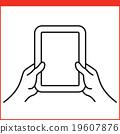 Smartphone gesture icon 19607876