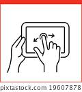 Smartphone gesture icon 19607878