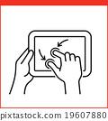 Smartphone gesture icon 19607880
