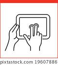 Smartphone gesture icon 19607886