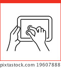 Smartphone gesture icon 19607888