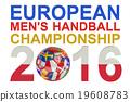 2016 European Men's Handball Championship concept 19608783