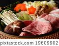 锅里煮好的食物 炖汤 牛肉 19609902