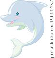 Swimming Dolphin 19611452