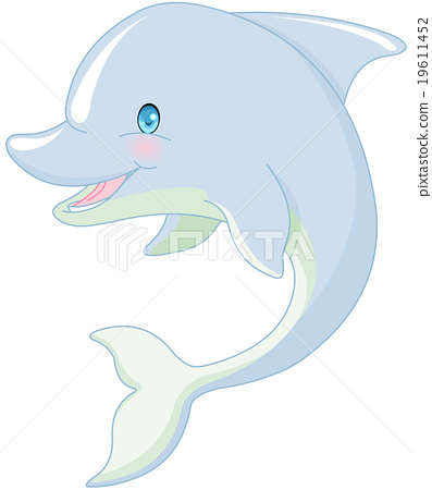 Swimming Dolphin 19611452
