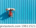 Red sprinkler pipe 19611521