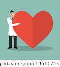 Doctor presenting the big heart 19611743