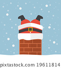 Santa claus stuck in the chimney 19611814