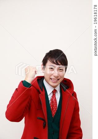 Guts pose Christmas (male winter casual coat duffle coat