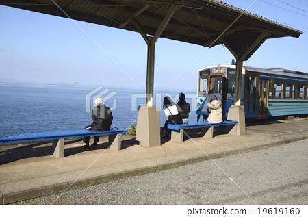 시코쿠 에히메의 下灘 역 19619160