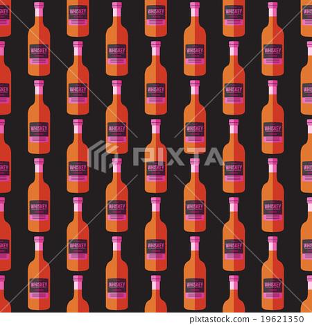 pop art whiskey bottle seamless pattern. 19621350