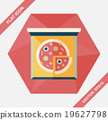 Pizza flat icon with long shadow,eps10 19627798