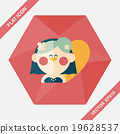 wedding bride flat icon with long shadow,eps10 19628537
