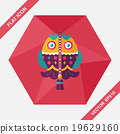 Chinese New Year flat icon with long shadow,eps, Chinese fish lu 19629160