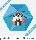 Halloween castle flat icon with long shadow,eps10 19629540