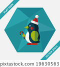 penguin flat icon with long shadow,eps10 19630563