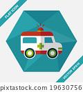 ambulance flat icon with long shadow 19630756