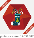 Christmas stocking flat icon with long shadow,eps10 19630807