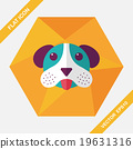 Pet dog flat icon with long shadow, eps10 19631316