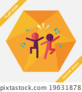 Dancing flat icon with long shadow,eps10 19631878